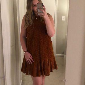 Maeve mustard velour lace dress 💞